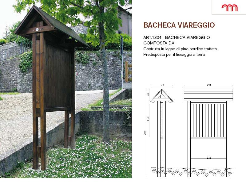 Bacheca viareggio per parchi e giardini da for Marinelli arredo urbano