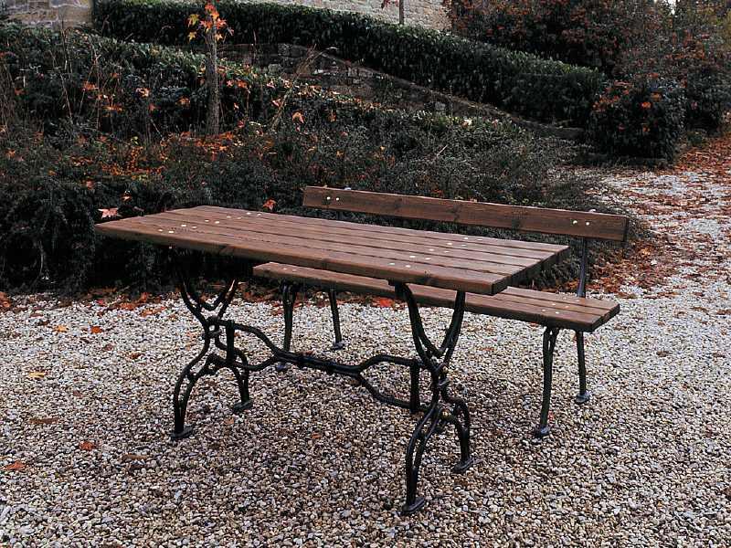Marinelli Arredo Urbano Srl.Art 204 Tavolo Francescano Per Parchi E Giardini Da Marinelli
