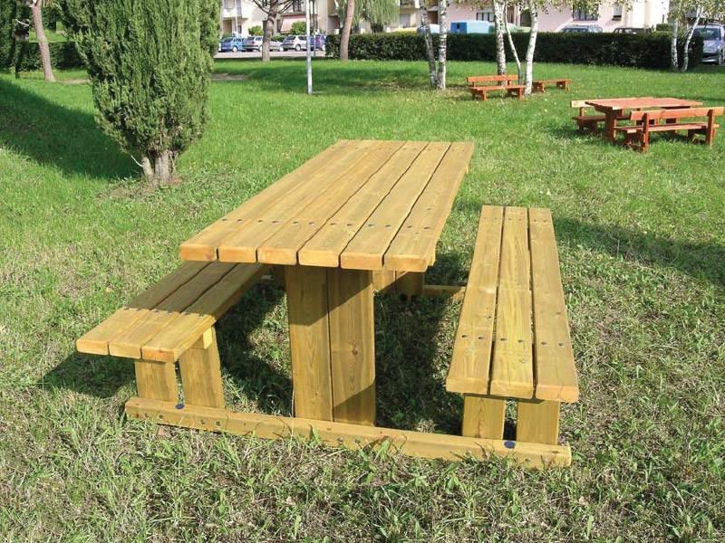 Art 207 tavolo pic nic capalbio per parchi e giardini da - Tavoli per esterno in legno ...