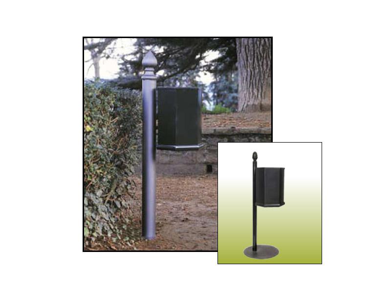 Art 708 cestino poppi per parchi e giardini da marinelli for Marinelli arredo urbano