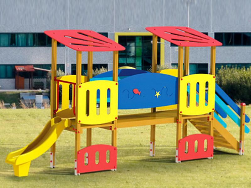 Art 852r paperopoli modulo ponte astra per parchi e for Marinelli arredo urbano